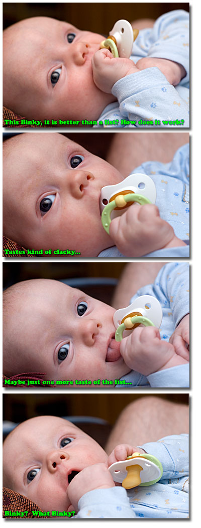 Four stages of binky denial